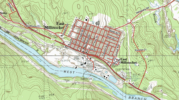 East Millinocket Street Map