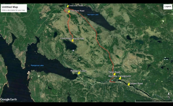 Aerial route to camp